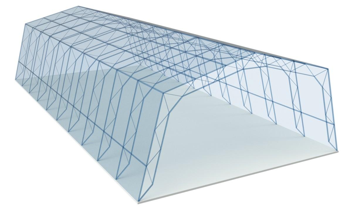 Полигональный ангар