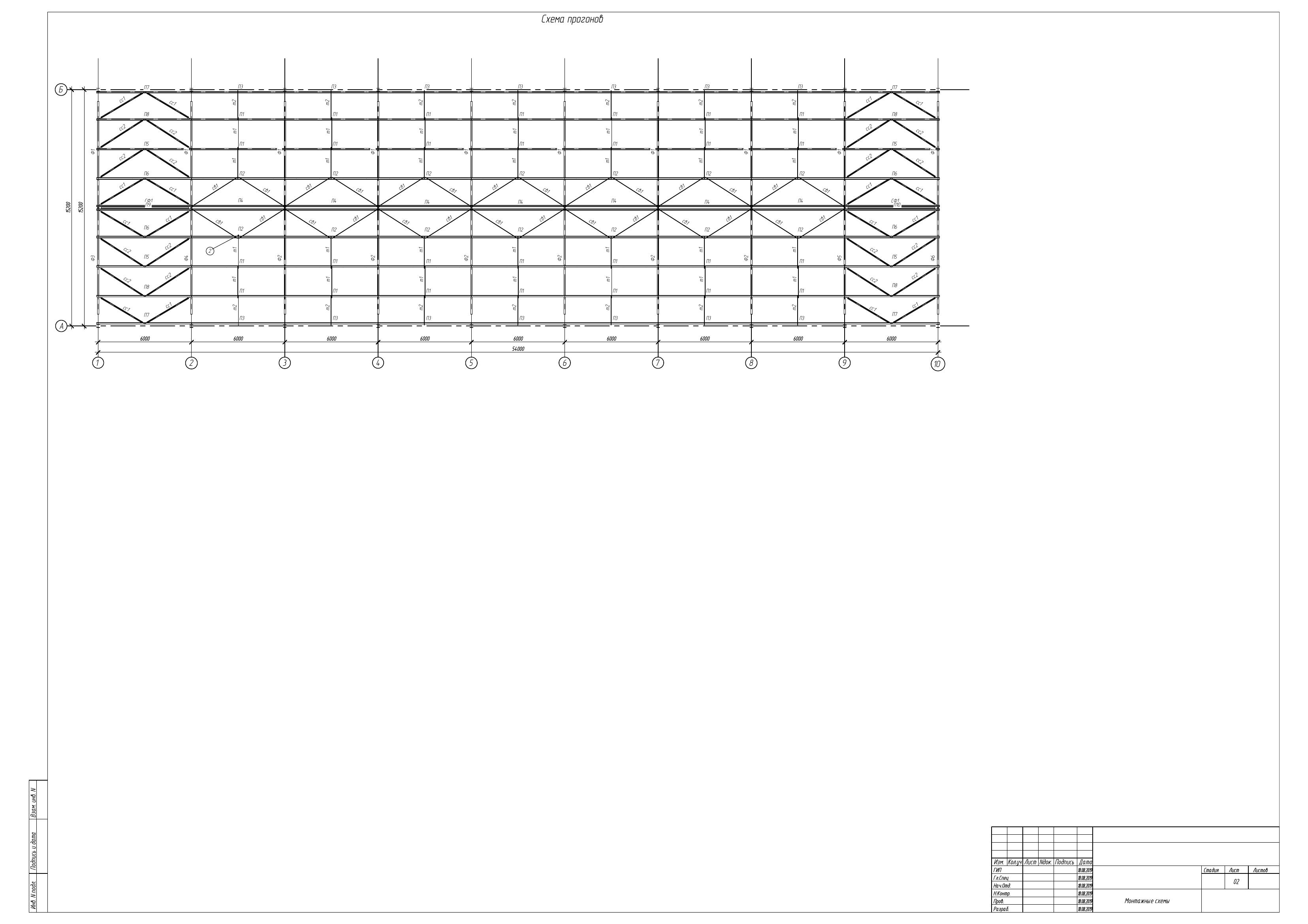 Схема стропильного покрытия
