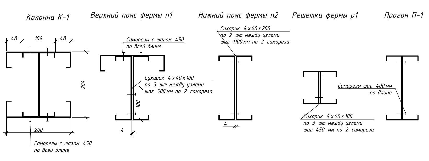 Проектирование ЛСТК каркасов