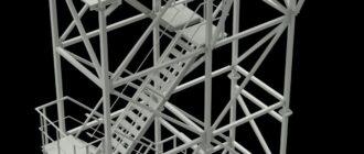 Чертеж лестницы наружной