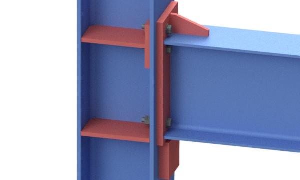Рамный узел балки и колонны