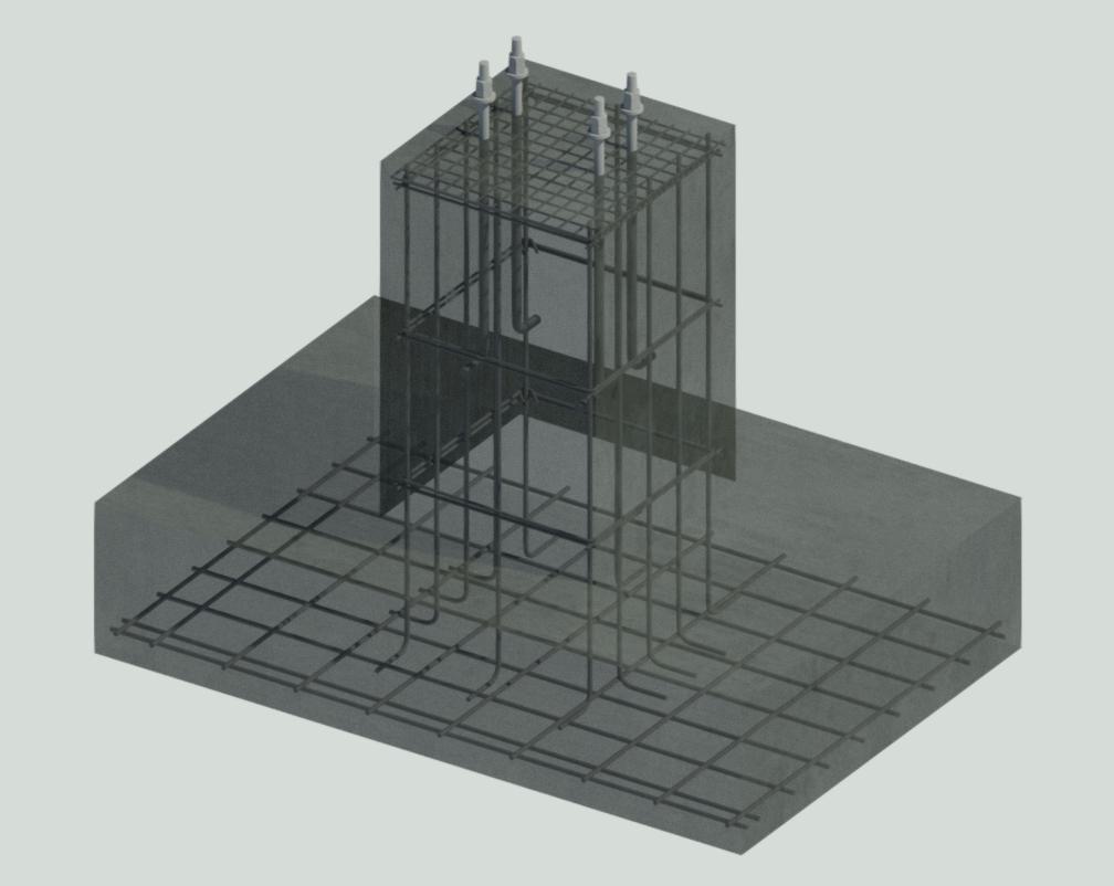 Армирование отдельно стоящих фундаментов