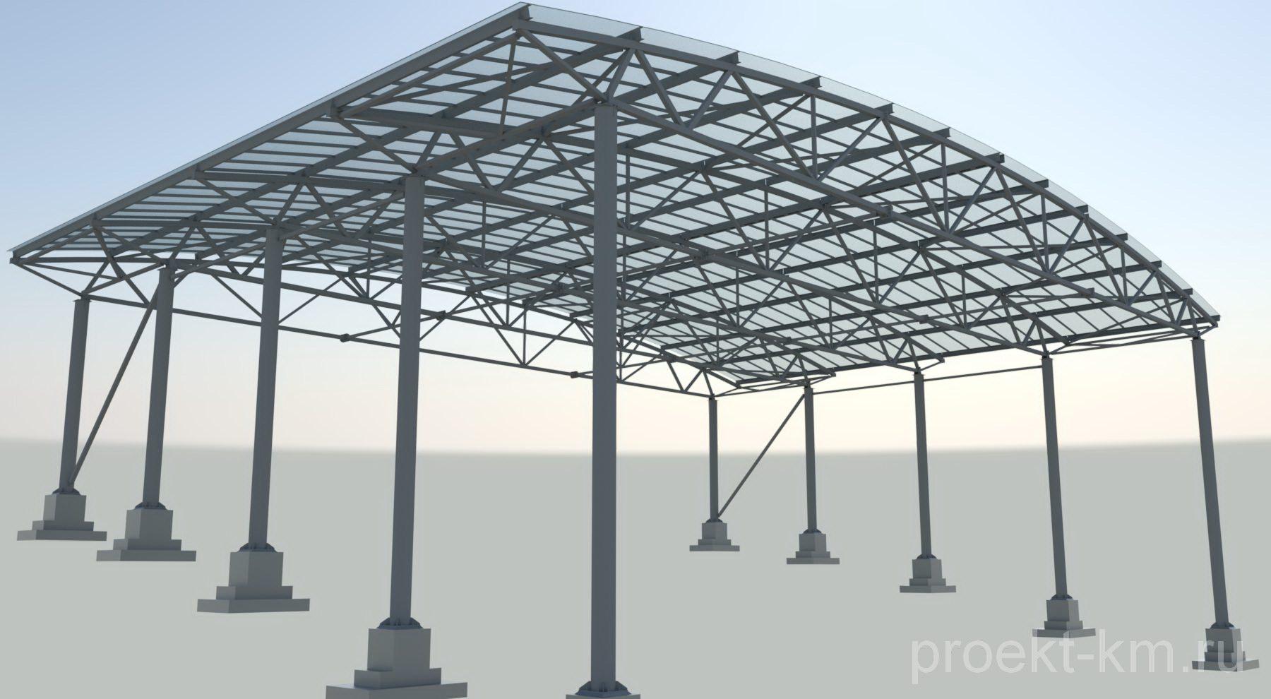 Расчет металлоконструкций и Разработка проекта КМ