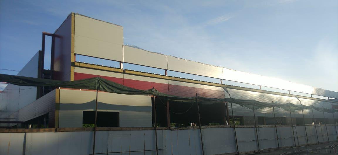 Быстровозводимое здание из металлоконструкций 2